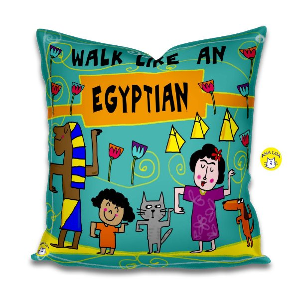 Capa de Almofada Walk like an Egyptian