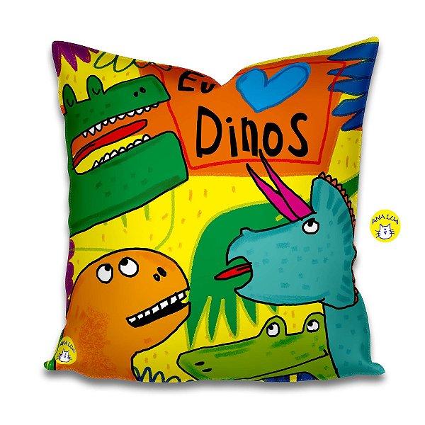 Capa de Almofada Dinos!!!