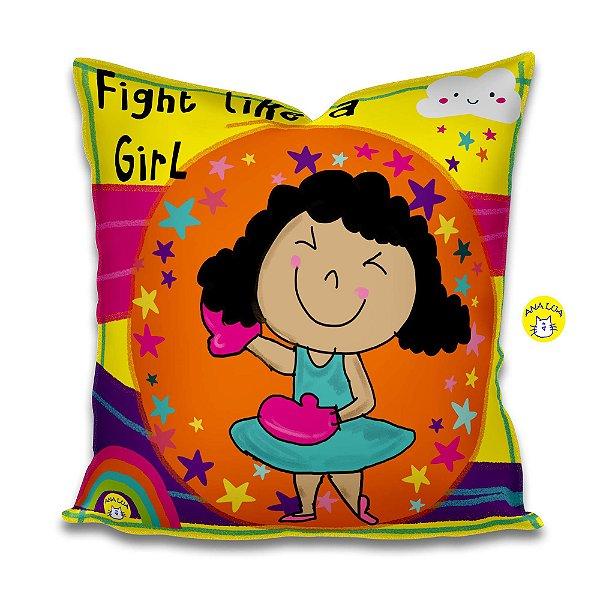 Capa de Almofada  Fight like a girl