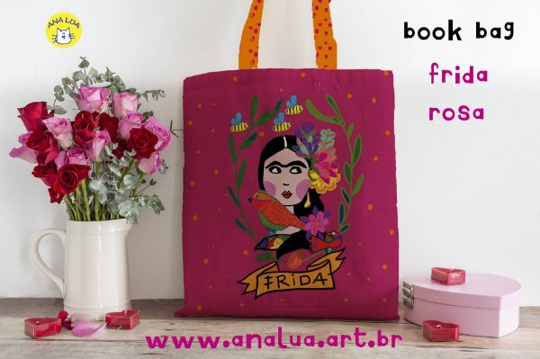 Book Bag Frida Rosa