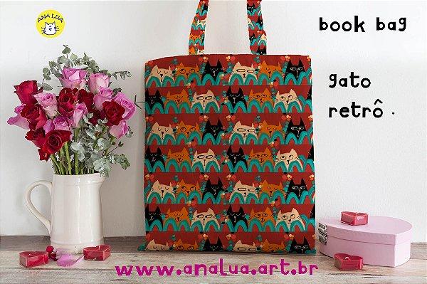 Book Bag  Gato Retrô