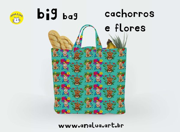 Big Bag Cachorros e flores