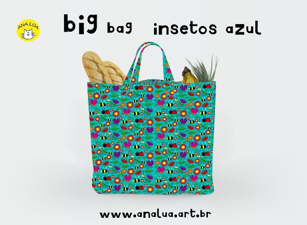 Big Bag  Insetos azul