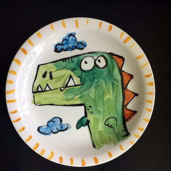 Pratinho de sobremesa Dino