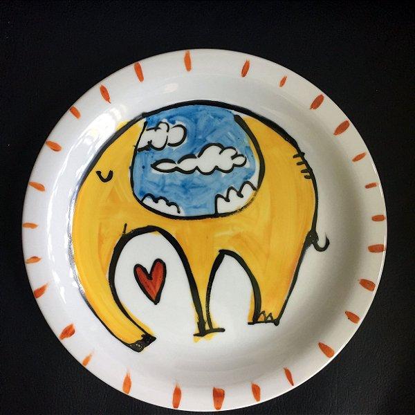 Pratinho de sobremesa Elefante
