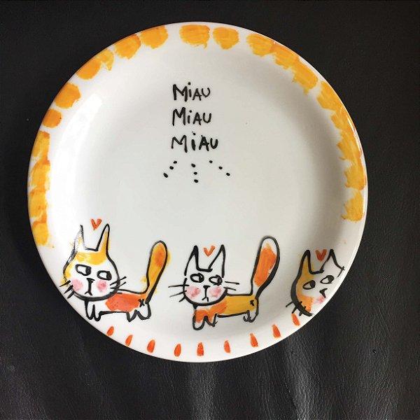Pratinho de sobremesa 3 Gatinhos