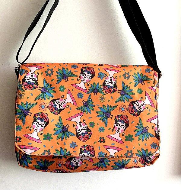 Bolsa Carteiro  Frida - laranja