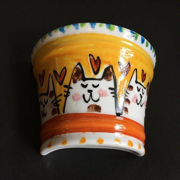 Vasinho de parede 3 gatinhos