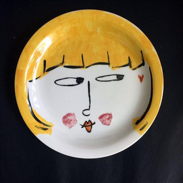 Pratinho de sobremesa  Casal - a moça