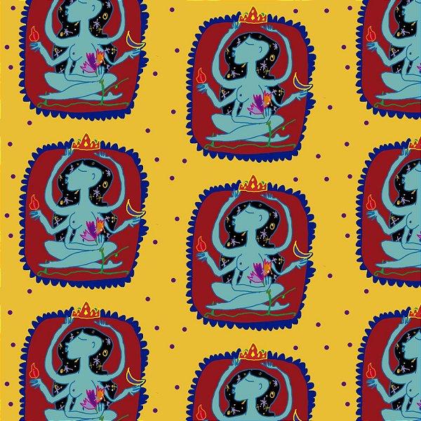 Tecido  -  A deusa fd amarelo