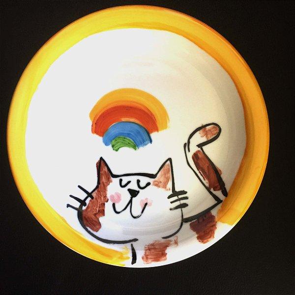Pratinho de sobremesa Gato Feliz