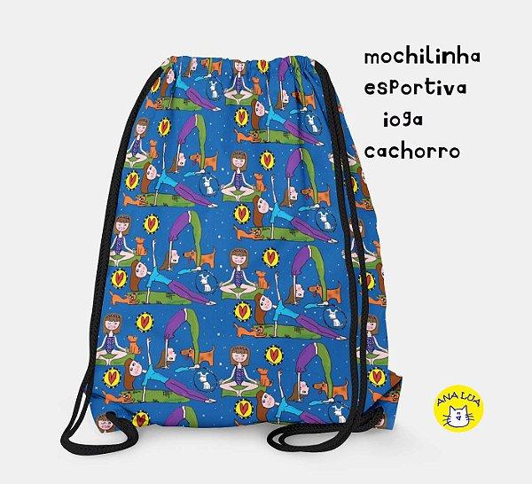 Mochilinha  Esportiva Ioga- cachorro