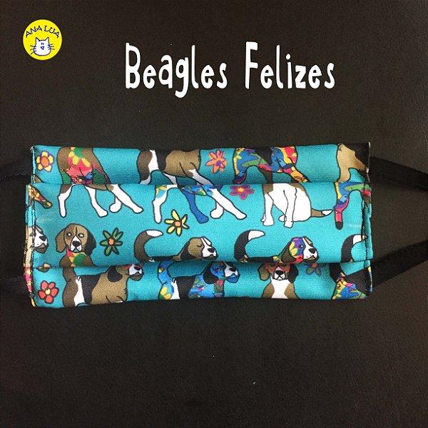 Máscara Beagles Felizes