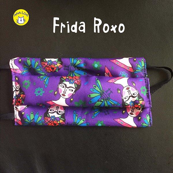 Máscara Frida fundo roxo