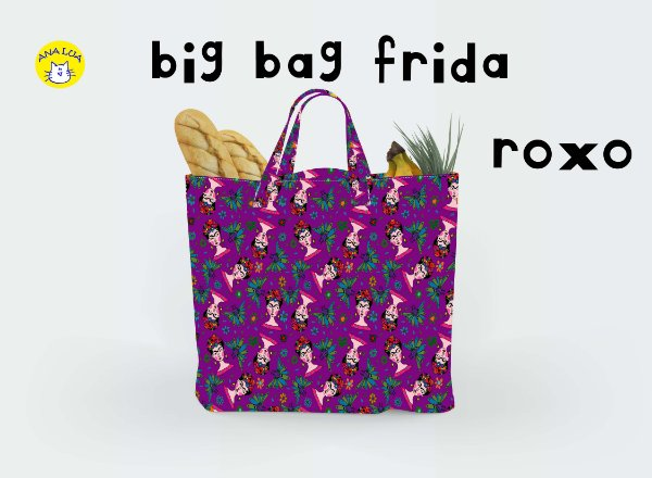 Big Bag Frida roxo