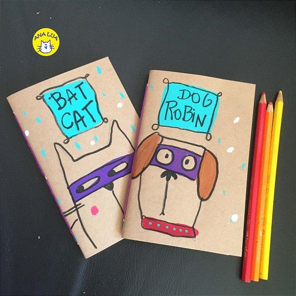 Caderninho  Kit - Bat Cat e Dog Robin