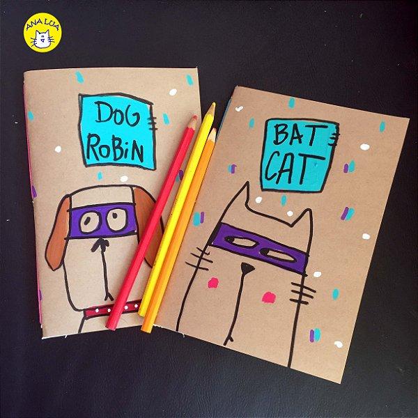 Caderno Kit Cat Bat e Dog Robin
