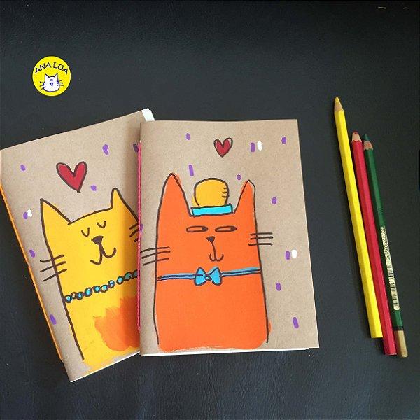 Caderninho  Kit -Gatinhos Enamorados