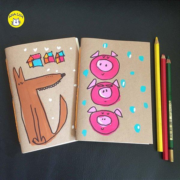 Caderninho  Kit -O Lobo e os 3 Porquinhos