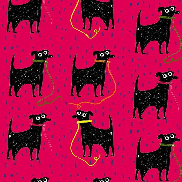 Tecido  -  Pretinho básico fundo rosa