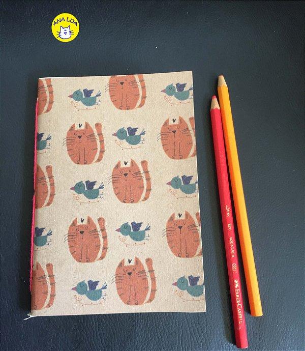 Caderninho Gatinho Abóbora