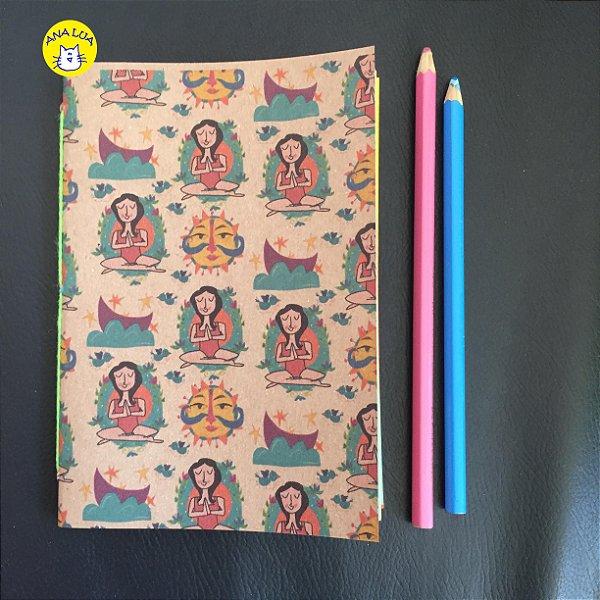 Caderninho Zen  folhas coloridas