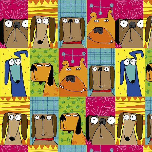 Tecido  - Cachorros Retratos