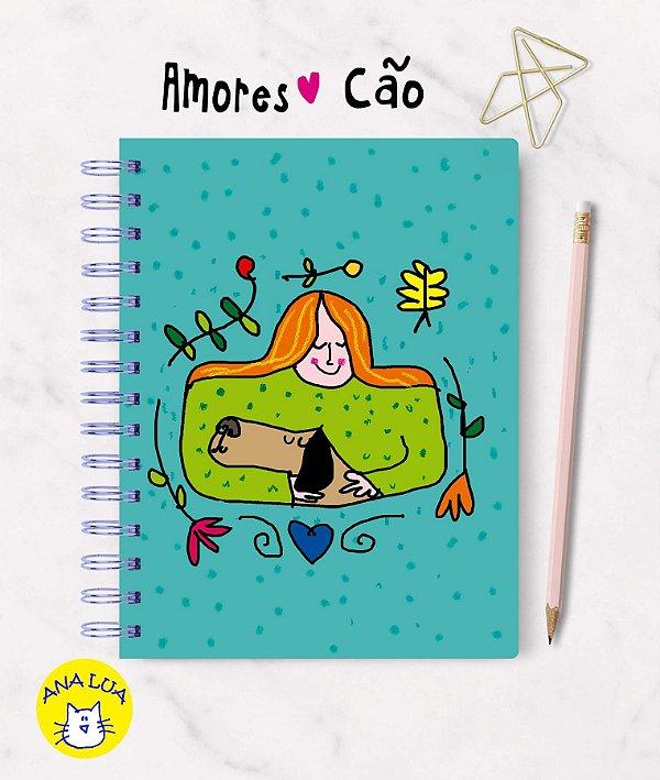 Caderno  Wire-o  Amores Cão