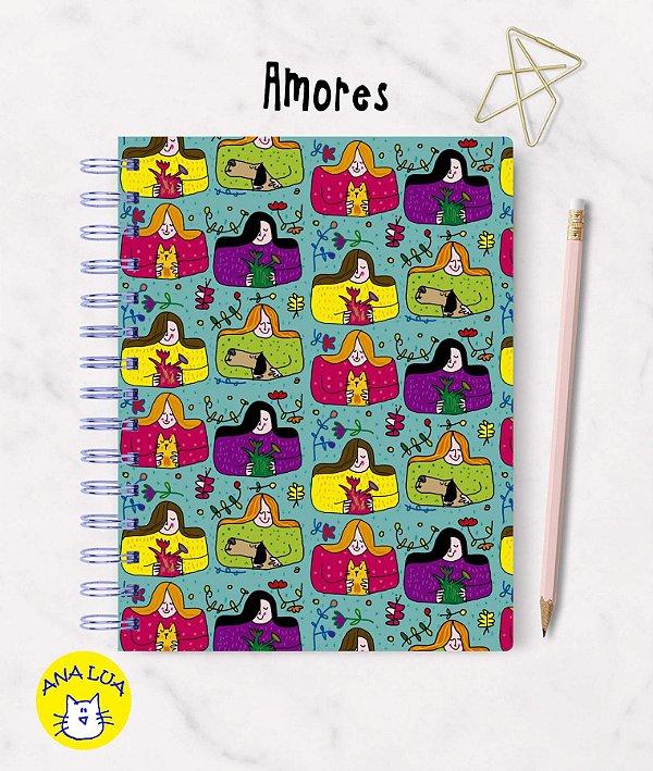 Caderno  Wire-o  Amores  Todos