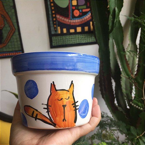Cachepot  Gato Laranja