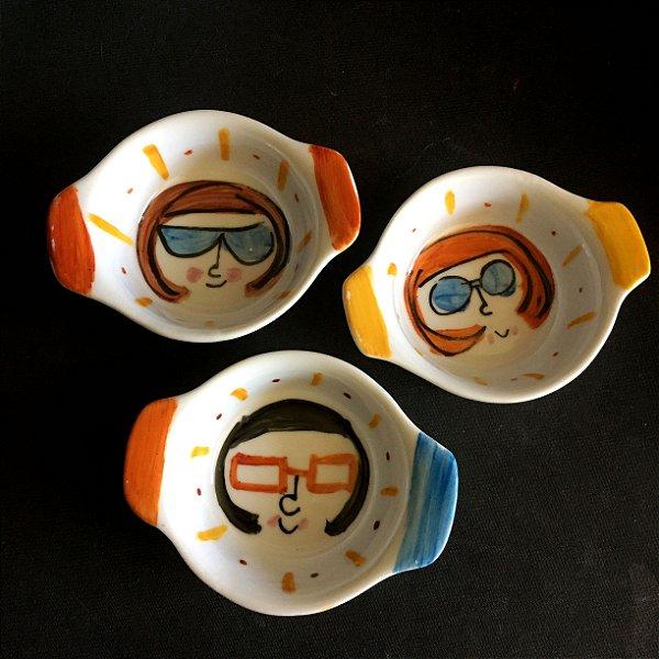 Conjuntinho de 3 mini travessas refratárias -  Meninas