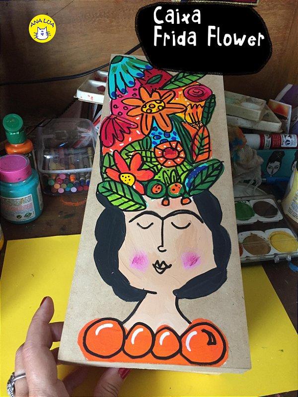 Caixa Comprida Frida Flower