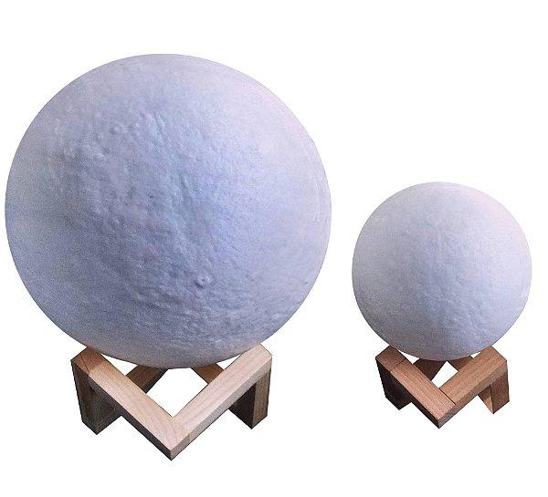 Luminária Lua 3d para decoração