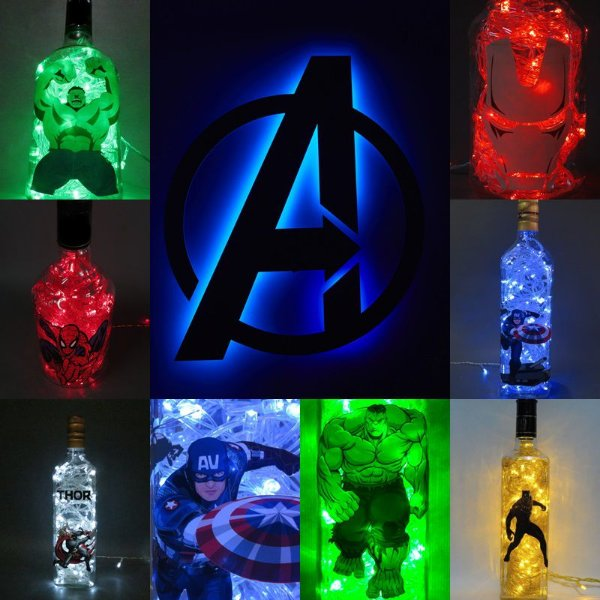 Luminárias Marvel