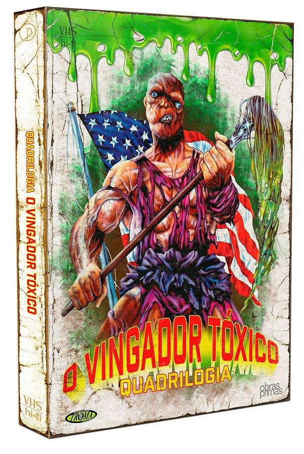 QUADRILOGIA O VINGADOR TÓXICO - EDIÇÃO ESPECIAL DE COLECIONADOR [DIGIPAK COM 4 DVDS] - PRÉ-VENDA 10/12/2021