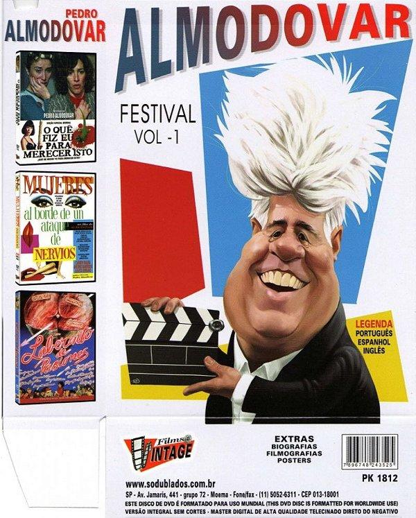 COLEÇÃO FESTIVAL ALMODOVAR VOL. 2 - 3 DVDS
