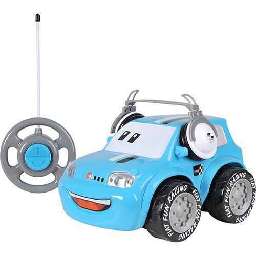 CARRO CONTROLE REMOTO FIAT FUN CAR - AZUL