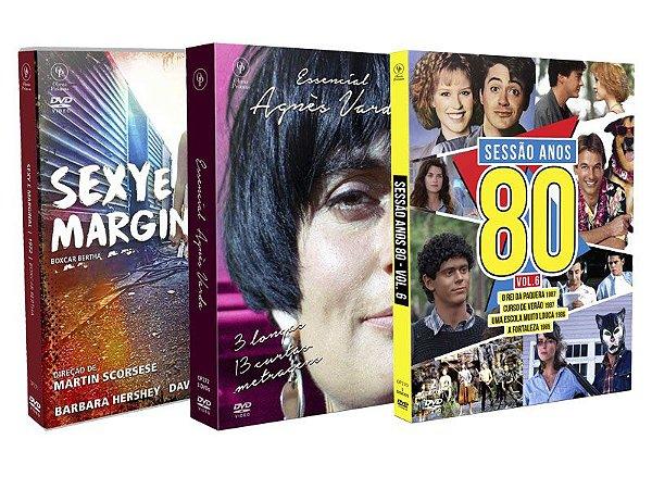 COMBO - SEXY E MARGINAL + ESSENCIAL AGNÈS VARDA + SESSÃO ANOS 80 VOL.6  - ENTREGA PREVISTA PARA A PARTIR DE 21/05/2019
