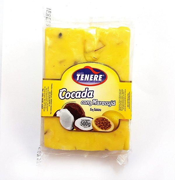 COCADA COM MARACUJÁ EM TABLETE 500G - DOCES TENÉRE