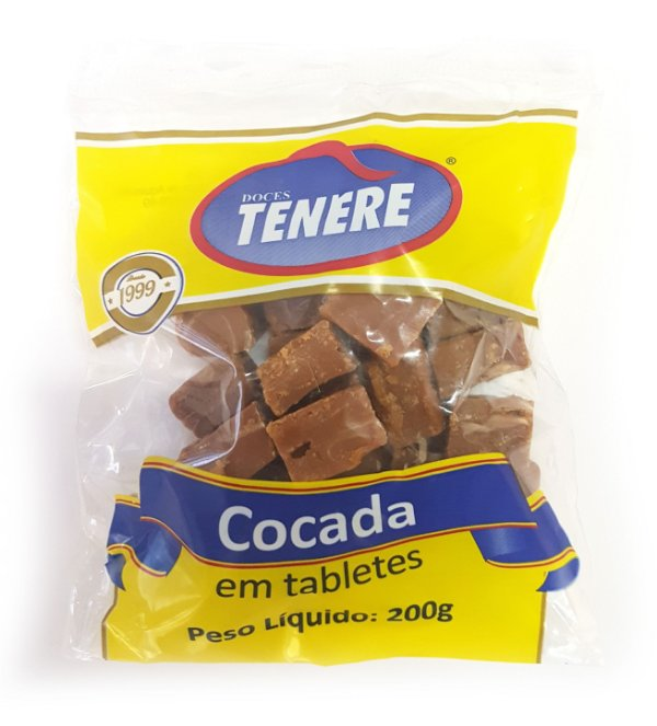 COCADA MORENA EM TABLETES 200g - DOCES TENÉRE