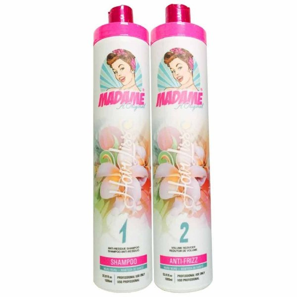 Escova Progressiva Madame Hair Liss Kit 2x1L