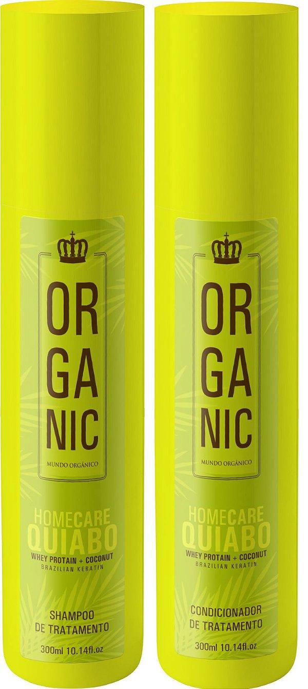 Pós Progressiva de Quiabo Home Care Kit Organic 2x300ml