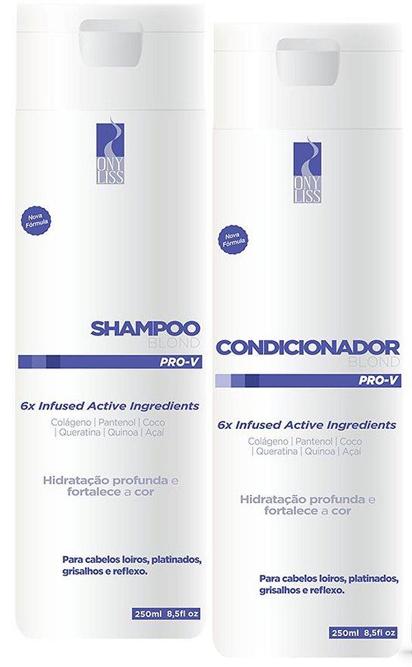 Ony Liss Shampoo e Condicionador Matizador Blond 2x250ml