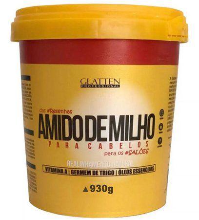Glatten Maizzena Amido de Milho - Alisamento Natural 930g