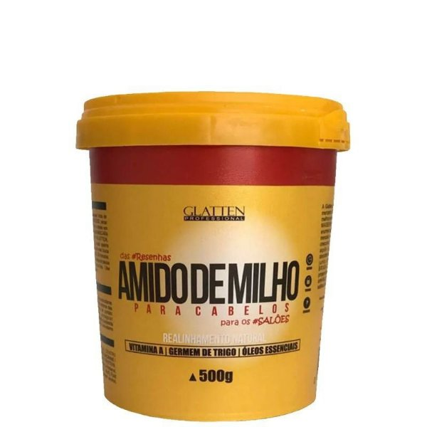 Glatten Maizzena Amido de Milho - Alisamento Natural 500g