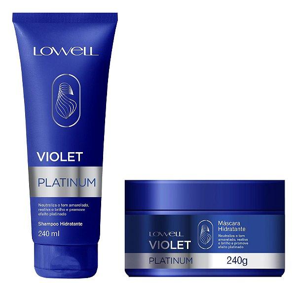 Lowell Kit Violet Platinum Shampoo e Máscara Hidratante 2x240ml