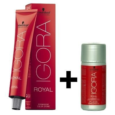Coloração Igora Royal 8.11 Louro Claro Cinza Extra + Ox de 20Vol 60ML