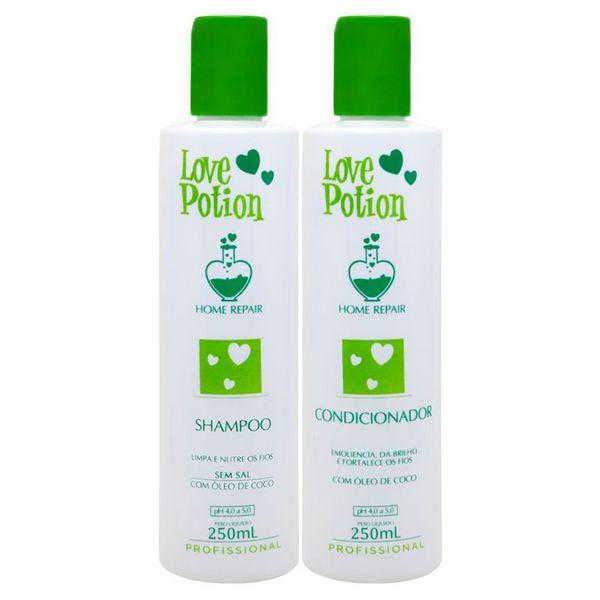 Love Potion Shampoo e Condicionador de Coco Home Repair 2x300ml