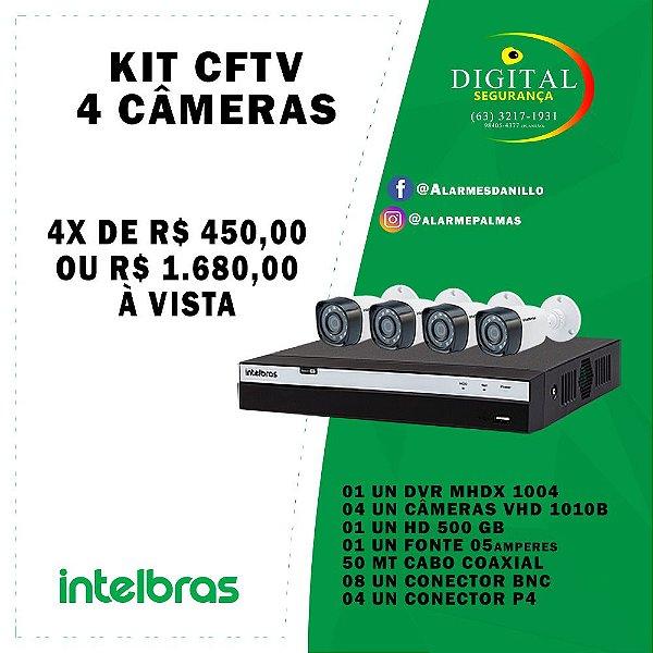 KIT CFTV 04 CÂMERAS INTELBRAS