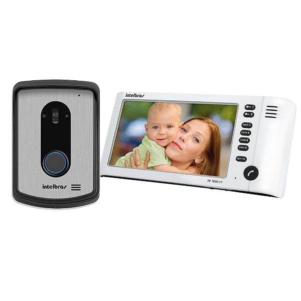 Kit Video Porteiro 7 Polegadas c/ Viva voz IV 7010 - Intelbras